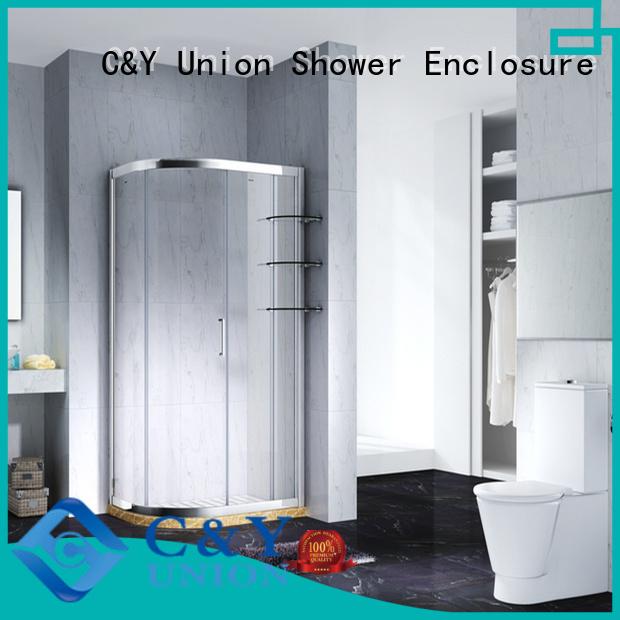 C&Y Union aluminum shower cabin manufacturer for bathtub showers