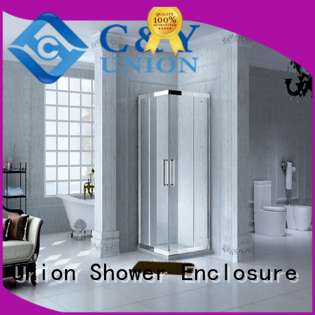 C&Y Union aluminum semi framed shower door manufacturer for corner