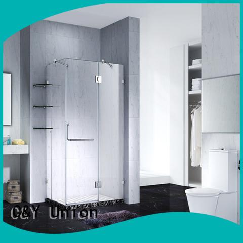 C&Y Union frameless glass shower doors shower screen for shower room