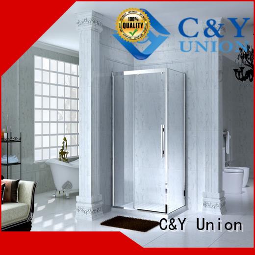 modern chrome framed shower door for tub for shower room C&Y Union