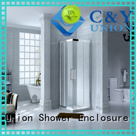 C&Y Union framed glass shower door for tub for corner
