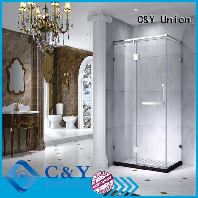 stainless steel semi framed shower for tub for corner