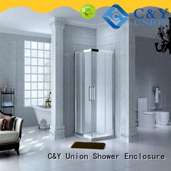 C&Y Union framed glass shower manufacturer for bathtub showers