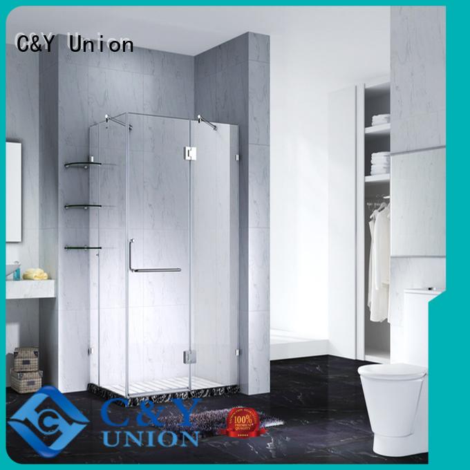 C&Y Union stable glass shower enclosures tub