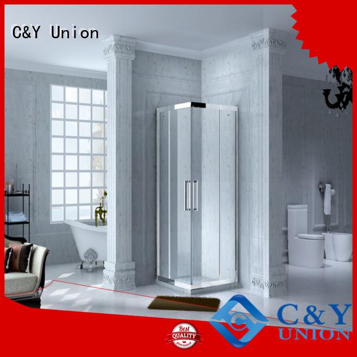 C&Y Union elegant framed glass shower enclosure manufacturer for alcove