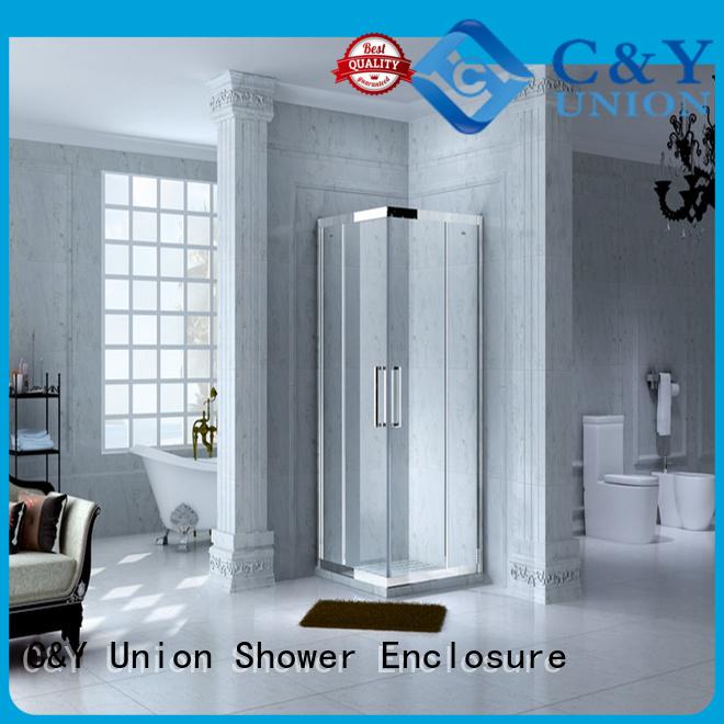 framed glass shower door with sliding door for shower room C&Y Union