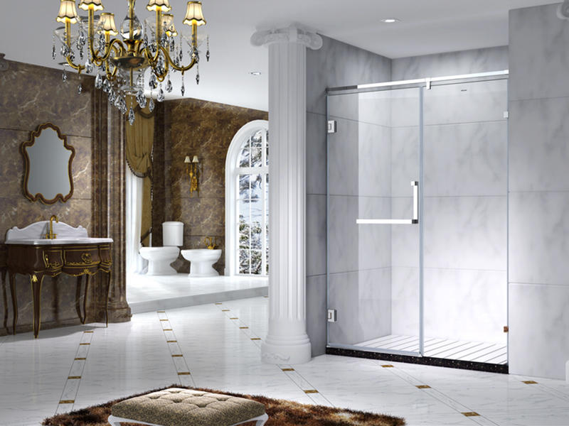 C&Y Union aluminum semi framed shower door manufacturer for standalone showers-3