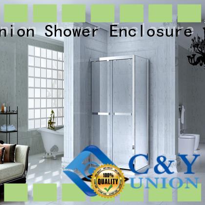 aluminum framed glass shower door for bath