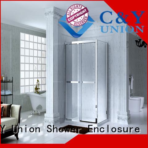 C&Y Union framed glass shower enclosure for tub for shower room