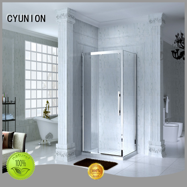price door style prime glass shower doors for tub CYUNION Brand