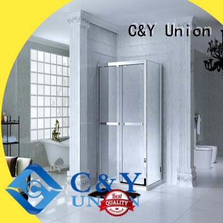 stainless steel semi framed shower door for bagnio