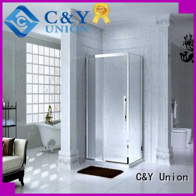 C&Y Union framed shower glass doors for tub for bagnio