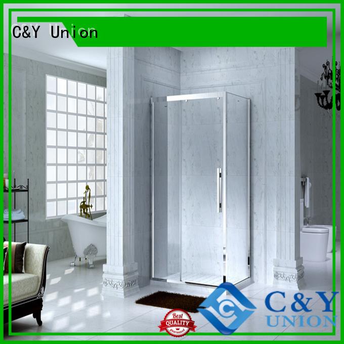 C&Y Union custom framed shower doors with sliding door for bath
