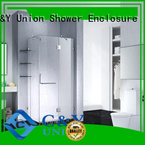 practical frameless glass shower doors easy clean for bathtub
