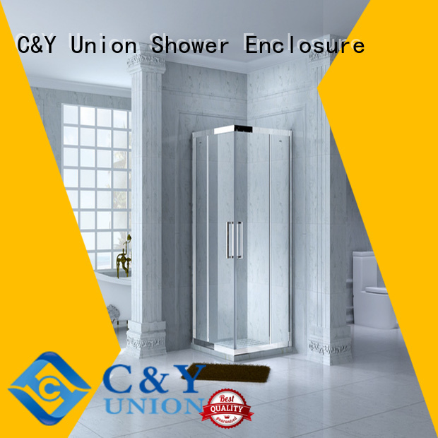 C&Y Union framed glass shower manufacturer for alcove