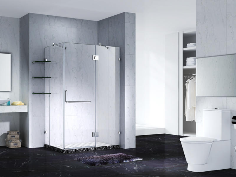 C&Y Union frameless shower screen cubicles for tub-1