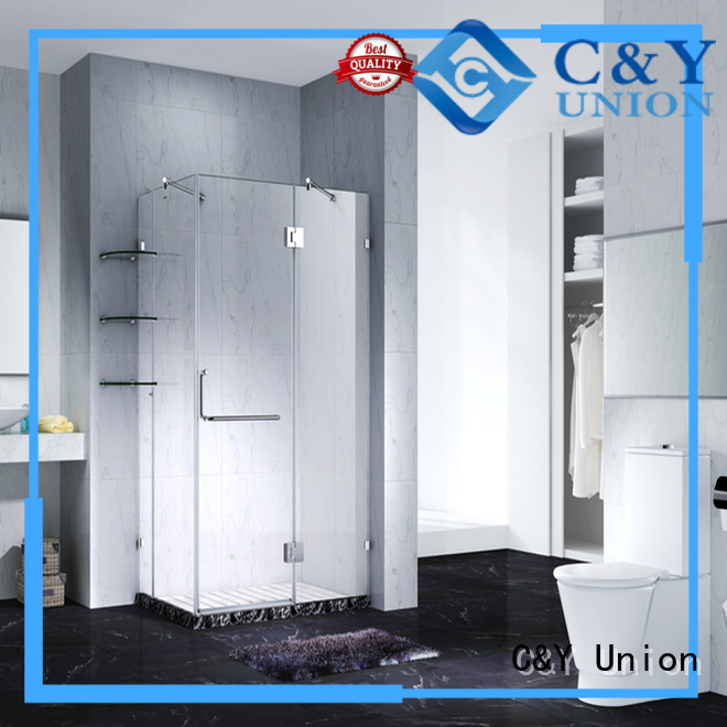 C&Y Union stable frameless shower screen factory for bath