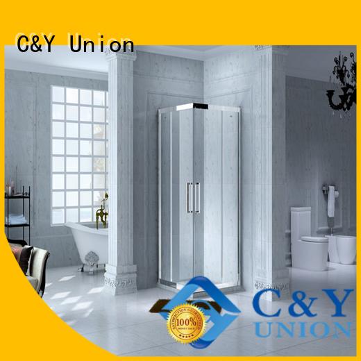 stainless steel framed shower enclosure for corner