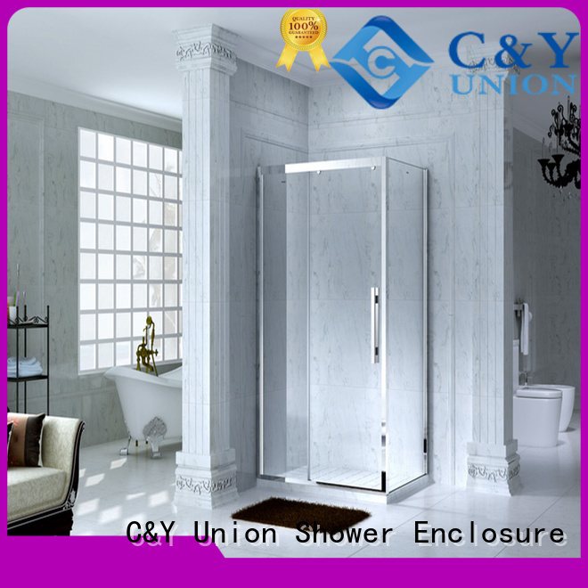 C&Y Union framed glass shower enclosure for bath
