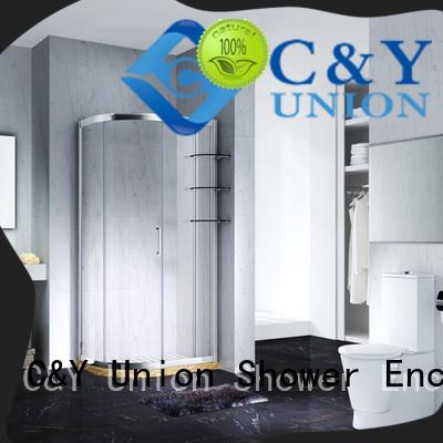 Quick-Installation Adjustable Framed Quadrant shower enclosure with sliding door,CY2131 – 1