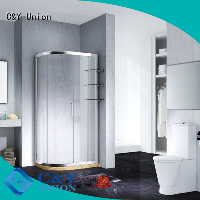 C&Y Union popular custom framed shower doors with sliding door for shower room