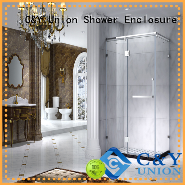 C&Y Union popular steel framed shower enclosure cy2142 for corner