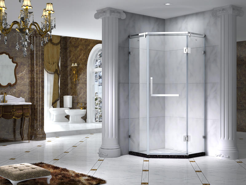 C&Y Union aluminum semi framed shower door manufacturer for standalone showers-2
