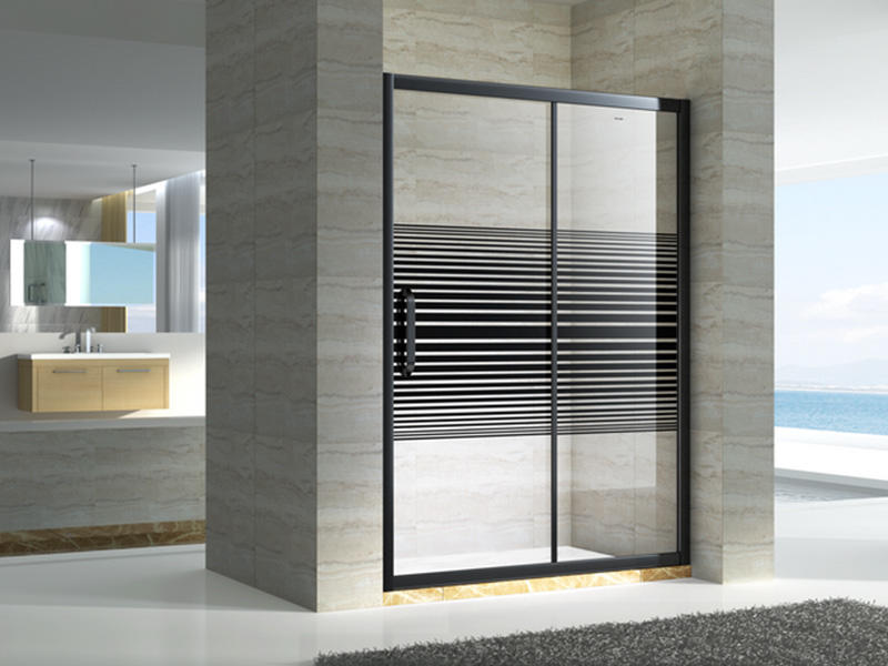 stainless steel semi framed shower door for tub for bagnio-2
