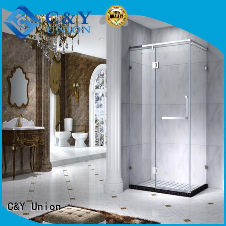 C&Y Union stainless steel framed shower glass doors manufacturer for shower room