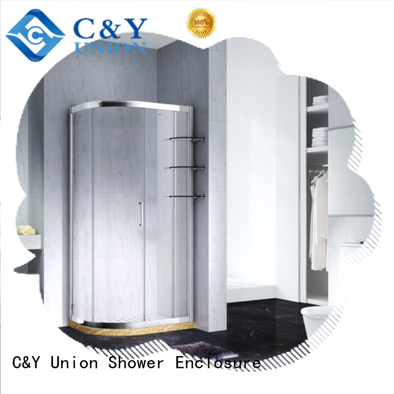 C&Y Union custom framed shower doors for sale for standalone showers