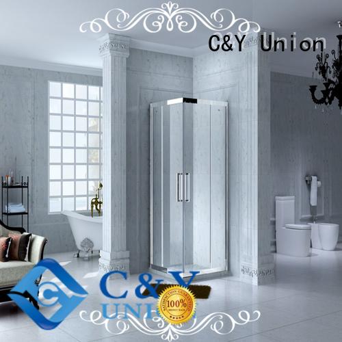 door steel framed shower enclosure manufacturer for bathtub showers C&Y Union