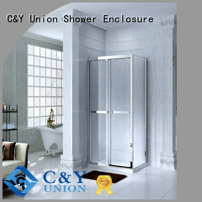 C&Y Union popular framed shower glass doors for tub for alcove