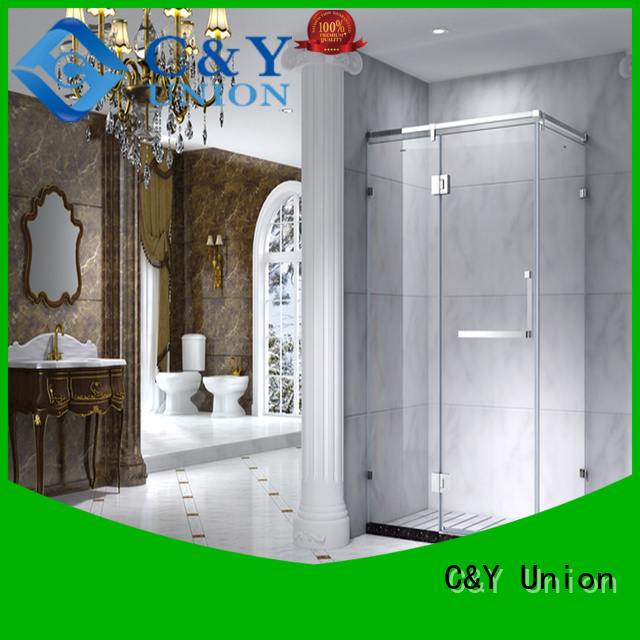 C&Y Union colorful framed shower enclosure with sliding door for bathroom