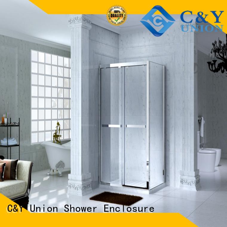 C&Y Union framed glass shower enclosure for tub for bathroom