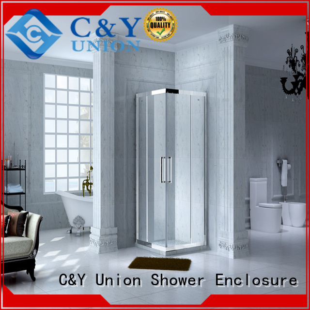 C&Y Union popular shower cabin with sliding door for bath