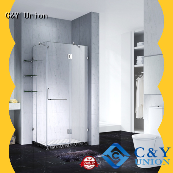 C&Y Union high quality frameless shower enclosure for bathtub