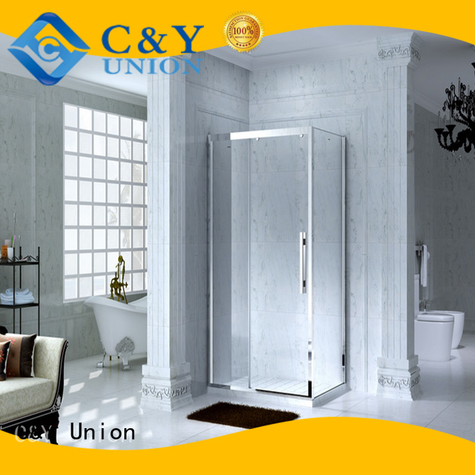 C&Y Union elegant framed glass shower door manufacturer for bathroom
