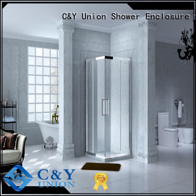 C&Y Union colorful framed glass shower for bath