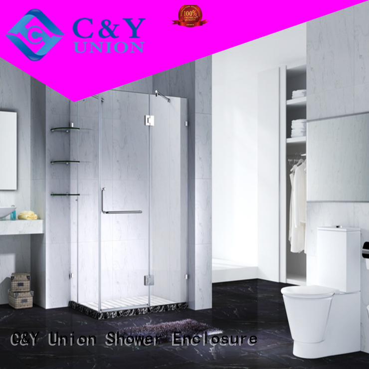 C&Y Union high quality frameless shower screen cubicles for bathroom