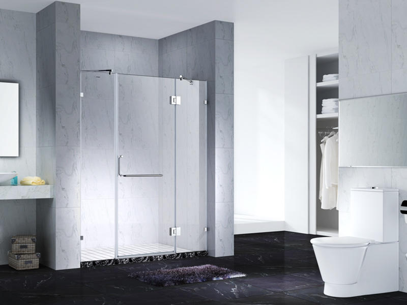 elegant frameless shower screen for bathroom-1