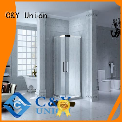 C&Y Union aluminum framed shower enclosure for bagnio