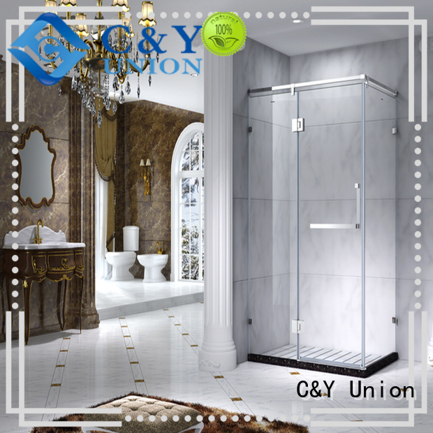 C&Y Union elegant glass shower enclosures for bath