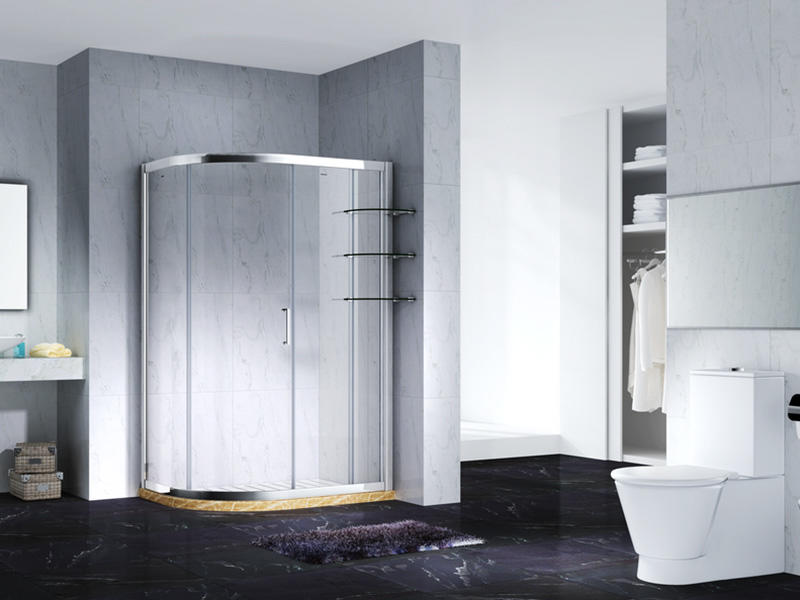 elegant semi framed shower with sliding door for bagnio-1