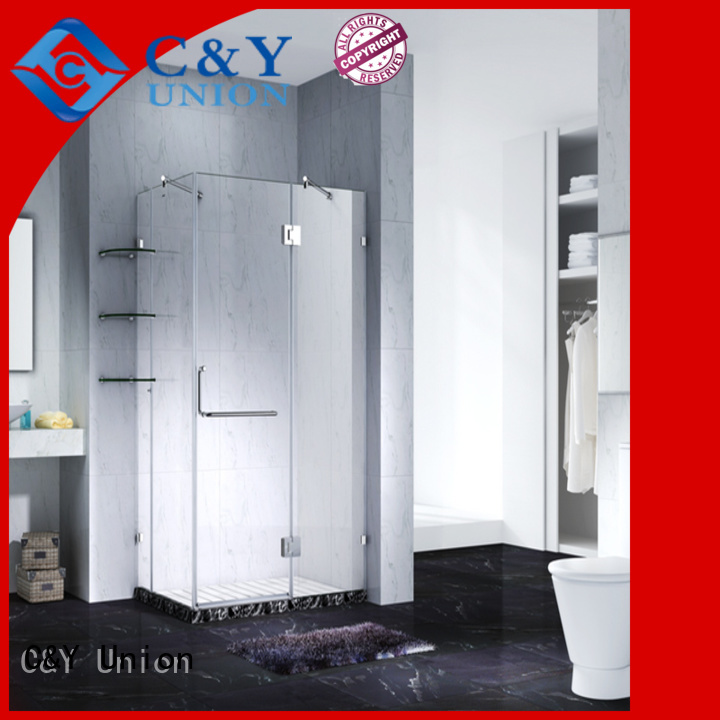 practical semi frameless shower door for bathroom