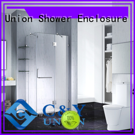 C&Y Union glass shower enclosures easy clean for bath