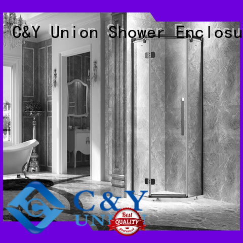 diamond semi frameless shower door C&Y Union Brand