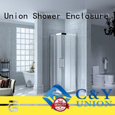 C&Y Union popular framed glass shower for tub for standalone showers