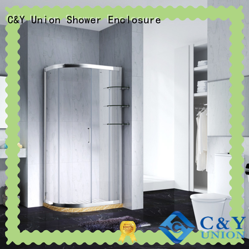 C&Y Union elegant custom framed shower doors for sale for corner