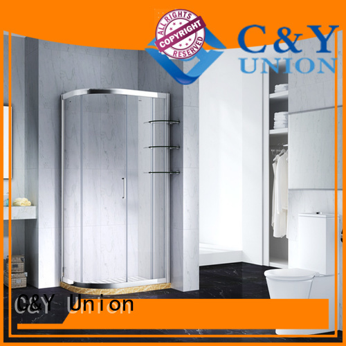 C&Y Union framed glass shower enclosure for alcove