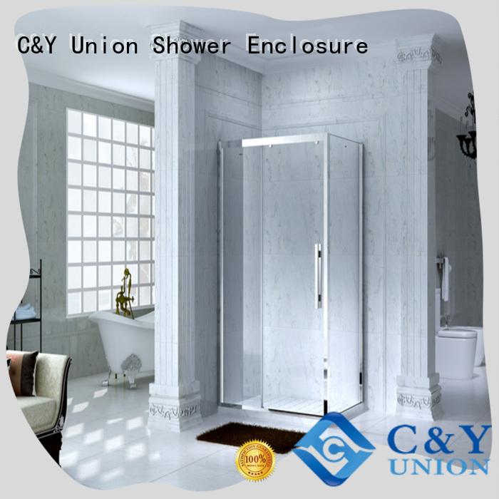 C&Y Union practical custom framed shower doors manufacturer for corner